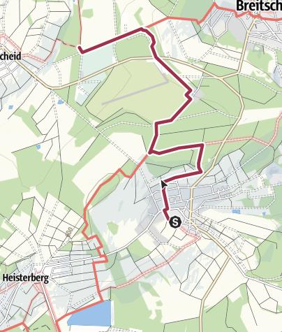Kaart / Rothaarsteig Zuweg von Gusternhain