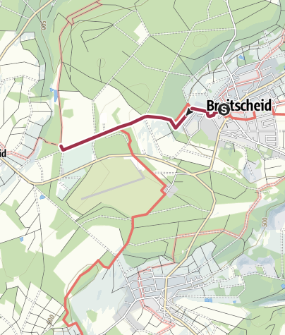 Karte / Rothaarsteig Zuweg von Breitscheid nach Rabenscheid