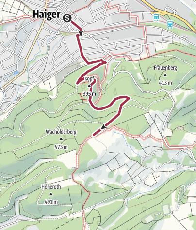 Karte / Rothaarsteig Zuweg Haiger Süd
