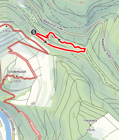 Karte / Rotwild-Lehrpfad Eberbach
