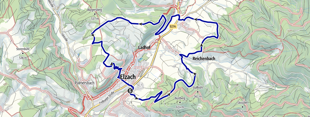 Static Map Goldener Kopf-Tour, Elzach