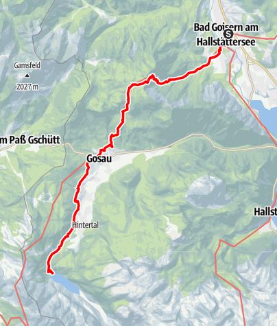 Map / Dachstein Rundwanderweg 8. Etappe