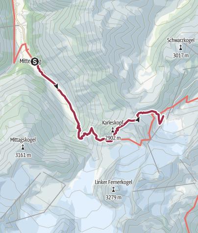 Map / Über die Gletscherwelt Pitztal-Ötztal - Pitztaler Jöchl