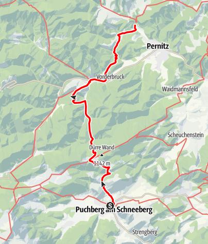 Mapa / WAB - Regionale Route Q: Puchberg - Muggendorf
