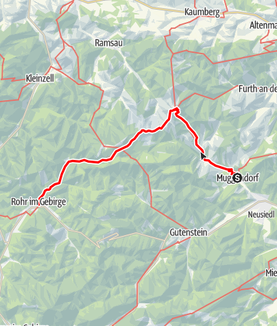 Mapa / WAB - Regionale Route T: Muggendorf - Rohr im Gebirge