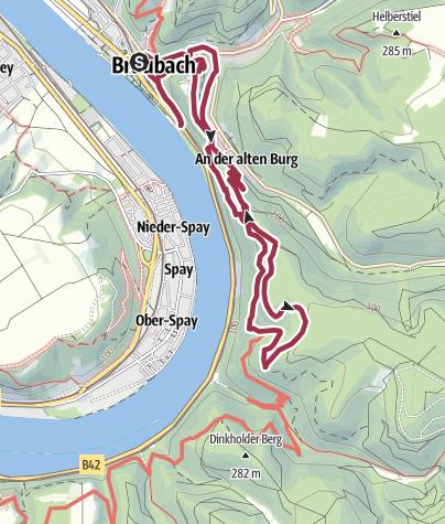Kaart / Köhlerweg in Braubach