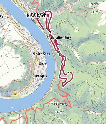 Map / Köhlerweg in Braubach