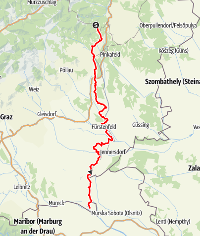 Karte / R12 Thermenradweg
