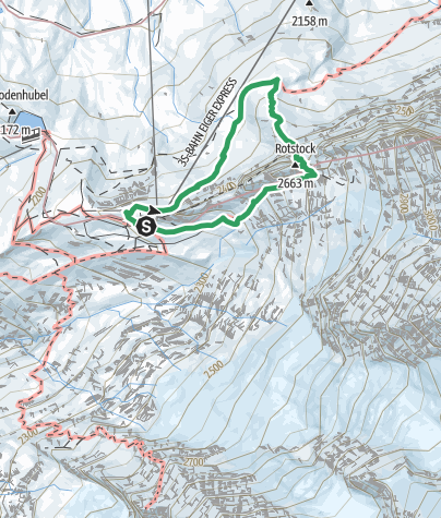 Map / Rotstock Klettersteig - Grindelwald