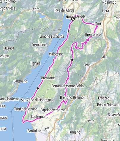 Karte / Torri - Garda - Costermano - Rifugio Graziani