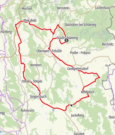 """Karte / Radarena S5 - """"Friedensmarathon Stadtschlaining 06-08  Strecke Light"""""""