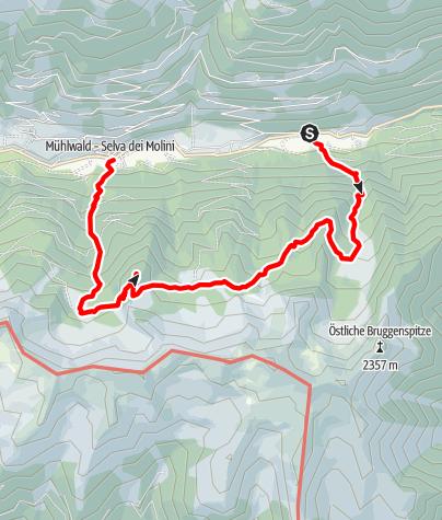 Mapa / Wanderung an der Mühlwalder Schattenseite