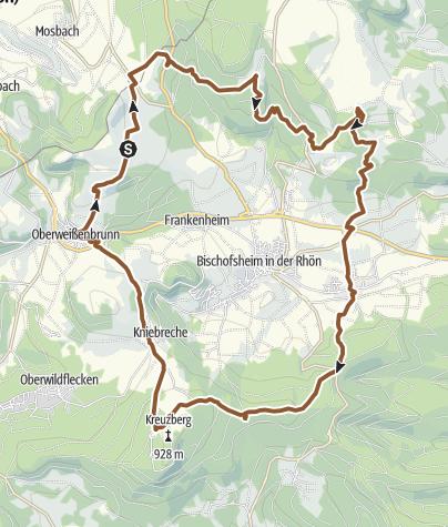 Karte / Rhön - Rundtour