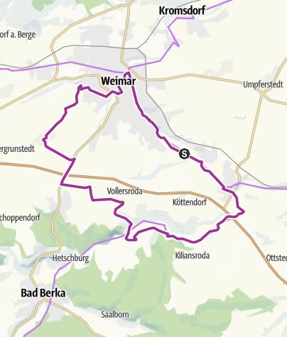 Karte / Feininger-Radweg | Bauhaus in Thüringen