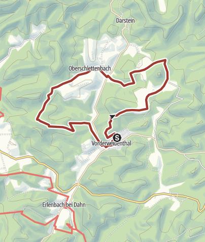 Kaart / Rotsandsteinweg kurze Tour