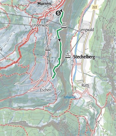 Map / Mürrenfluh Klettersteig - Mürren
