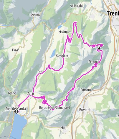 Cartina / Monte Velo - Passo S.Barbara - Viote