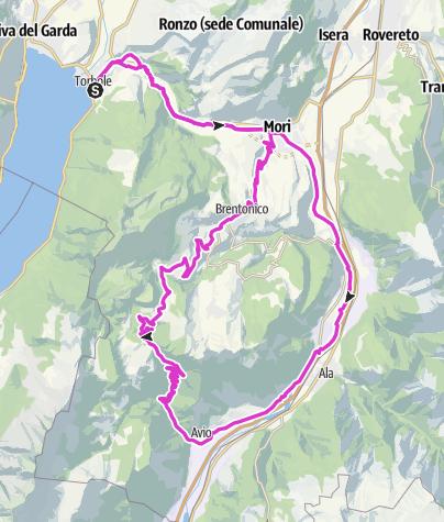 Map / Torbole - Avio - San Valentino - Torbole