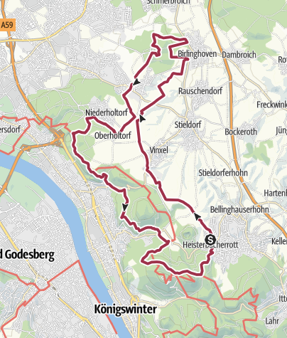 Karte /  GA-Wandertag 2017 - 30km   40 Jahre GA-Wandertag