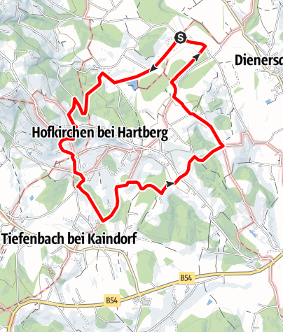 Karte / Hoamatweg Hofkirchen
