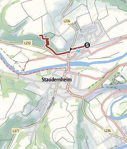 Map / Weinbergsterrassen- und Orchideenpfad am Staudernheimer Hang