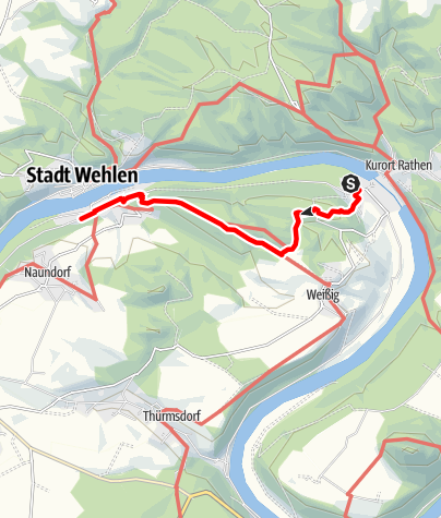 Mapa / Winterliche Wanderung von Rathen nach Stadt Wehlen