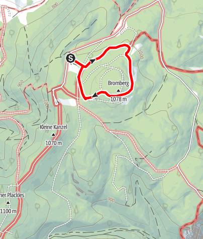 Karte / Naturpark Hohe Wand - Gehege Rundgang
