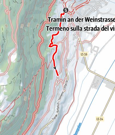 Mapa / Gewürztraminer Weg