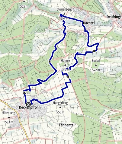 Karte / Kleeblattrunde NO Deckenpfronn