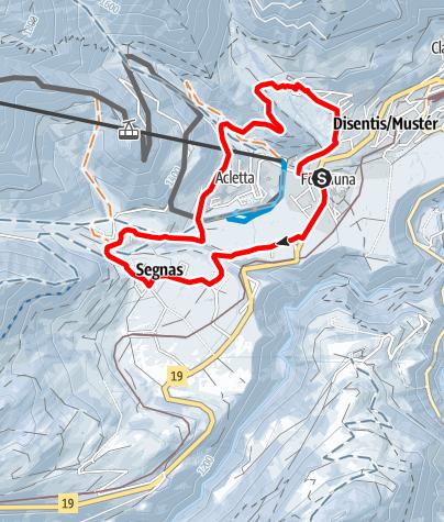 Kaart / 257 Muntatsch -Segnas Rundtour