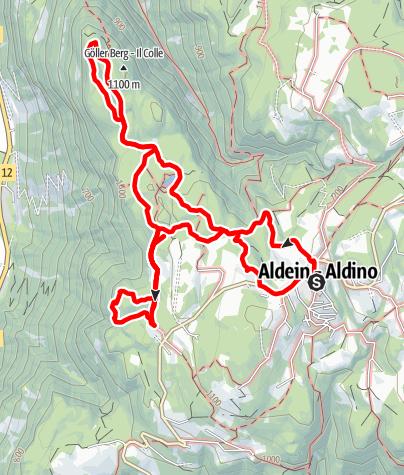 Map / From Aldino to Göller lake