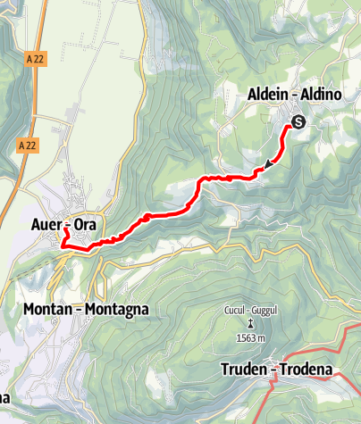 """Kaart / Aldein - Ruine """"Leiterburg"""" - Auer"""