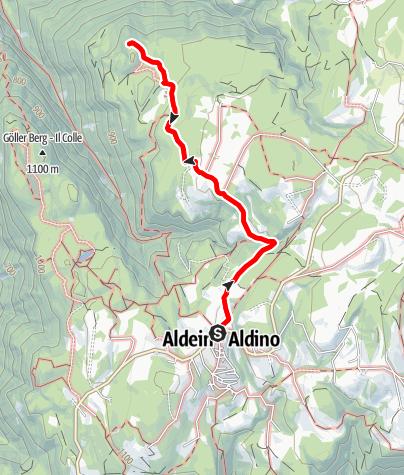 Mappa / Aldino - Winkl - Salto del Cavallo