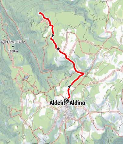 Kaart / Aldein - Winkl - Rosssprung