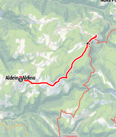 Karte / Almenwanderung von Aldein nach Weißenstein