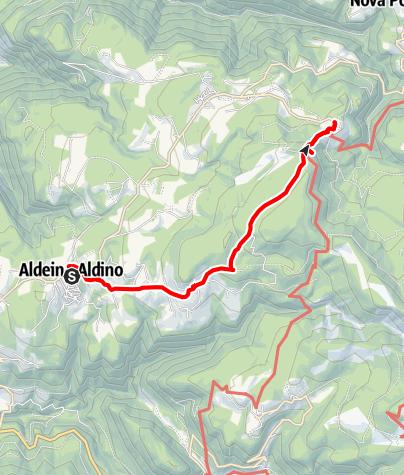 Mapa / Almenwanderung von Aldein nach Weißenstein