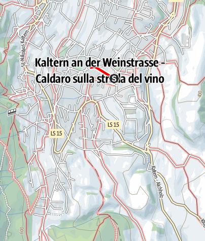 Mappa / Percorso didattico sul vino di Castel Sallegg