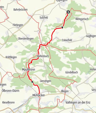 Karte / Eppingen Ottilienberg - Mühlacker