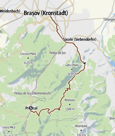 Hartă / Predeal - Săcele - Brașov