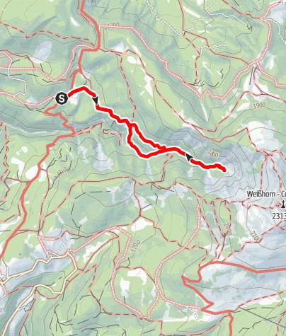 Kaart / GEOTour Bletterbach - Talschluss