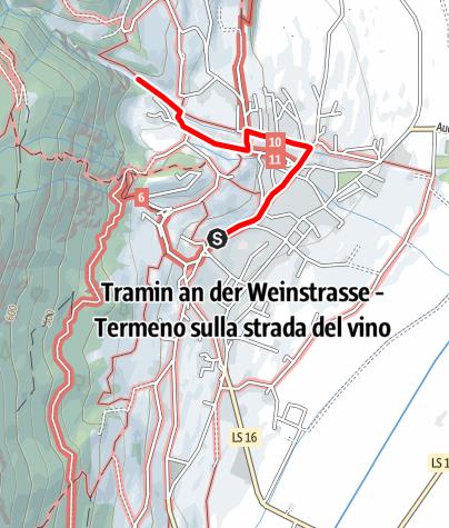 Mapa / Traminer Geoweg Höllental