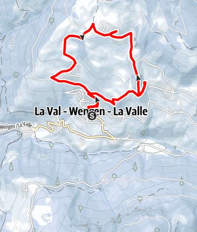 Cartina / Escursione invernale tra i masi ladini a La Val
