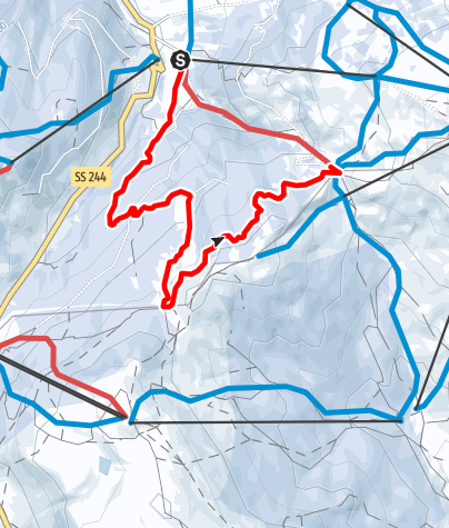 Karte / Leichte Winterwanderung Planac - La Marmotta