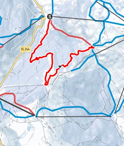 Mapa / Leichte Winterwanderung Planac - La Marmotta