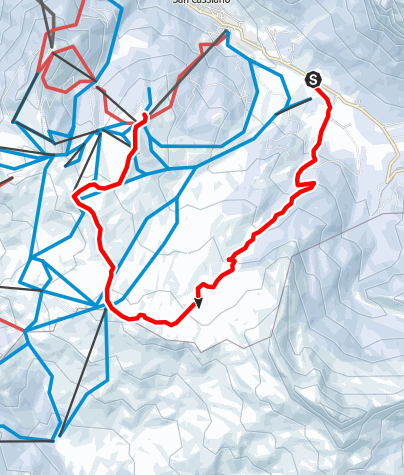Mappa / Ciaspolare nei prati di Störes fino al Piz Sorega