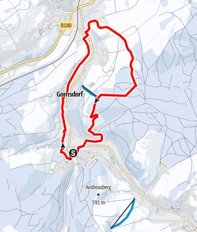 Karte / Winterwandern - Rund um Gornsdorf (Kleine Runde)