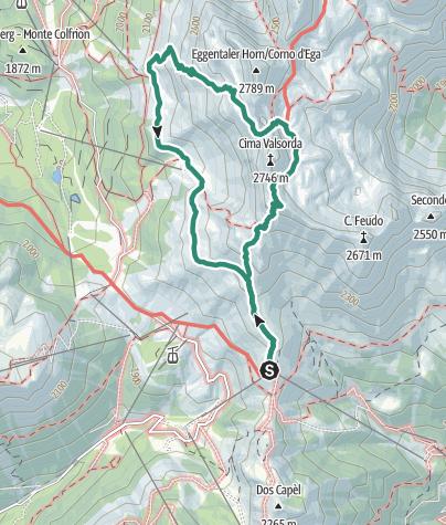 Karte / Torre di Pisa Wanderung