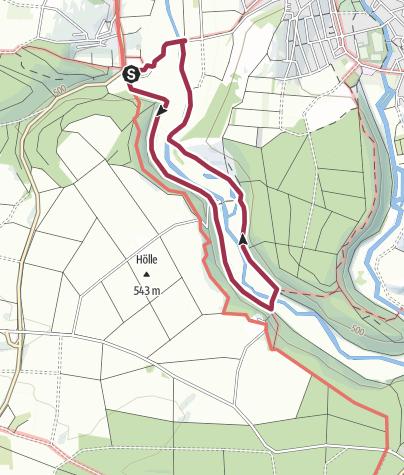 Karte / Eselsburger Tal - Wandervorschlag Bindsteinschleife