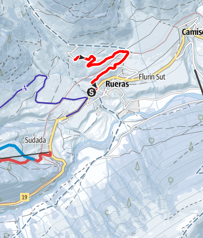 Karte / Pardatsch bei Rueras