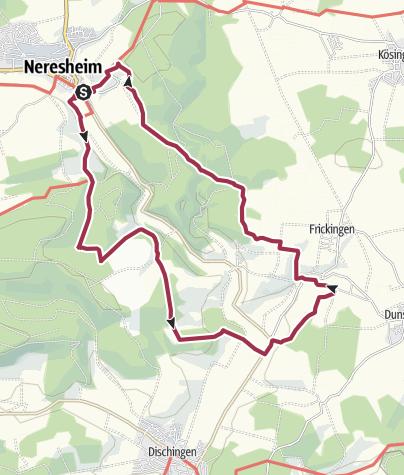 Karte / Albschäfer-Zeitspur: Herrschaftsweg zwischen Neresheim und Dischingen
